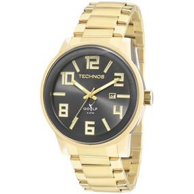Relógio Technos Masculino Golf Dourado 2115tt/4p Garant 1ano