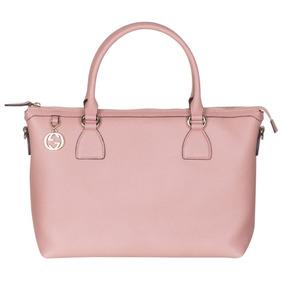 Gucci Soft Pink Calf Leather Gg Colgante Hobo Bolsa De Ho