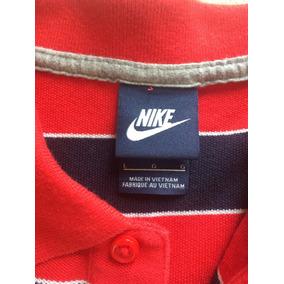 5a4c638fd4 Camisa Polo Nike Vermelho Listrado Maculino Original L   G