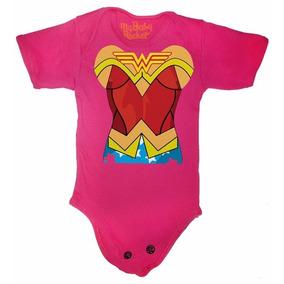 Pañaleros De Wonder Woman Rosa - Disfraz Para Bebes
