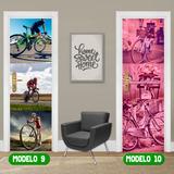 Adesivo Porta Ciclismo Bicicletaria Oficina Bike Down Hill
