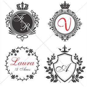 Monogramas Casamento Aniversarios Personalizo Em Vetor Corel