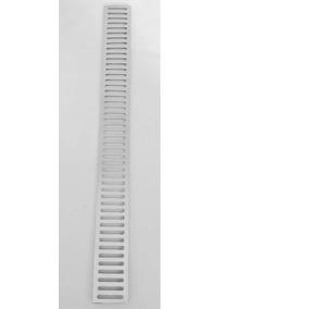 Ralo Linear Sem Suporte 5x48 Alumínio Escovado Grelha