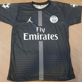 Camisa Paris Saint Germain Preta Jordan