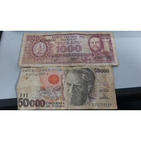 Cinquenta Mil Cruzeiros Câmara Cascudo 1000 Guaranies 2002
