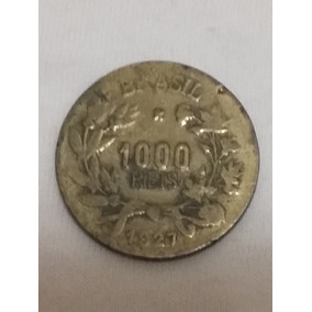 Antiga Moeda De Mil Réis 1927