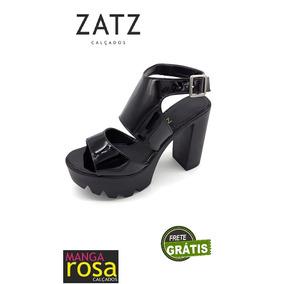 ba19b3efc9 Sandalia Zatz Feminino Sandalias - Sapatos Preto no Mercado Livre Brasil