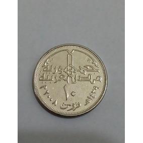 (t289) Egito Moeda 10 Piastras 2008 (19mm)