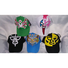 Lote De 10 Gorras De Mascara De Luchador Varios Modelos A El f69ba70b845