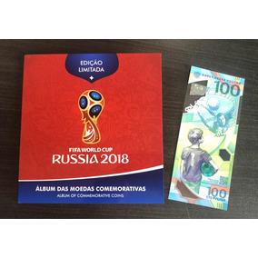 Álbum Das Moedas Da Copa Da Rússia Completo + Cédula Oficial