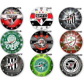 Kit C/ 6 Relógios Parede Atacado Decoração Times De Futebol