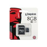 Kit Com 5 Cartao De Memoria Kingston 8gb C/adpatador