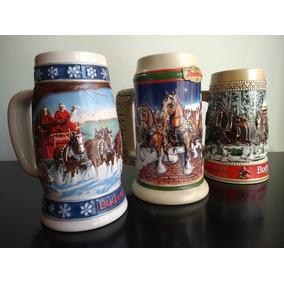 Caneca Budweiser Anheuser Busch Ed. Colecionador Kit Com 3 U