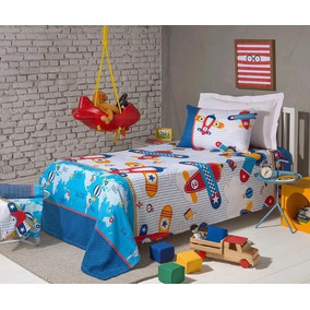 Cubrecama Infantil Colcha Piqué 1 ½ Plaza Fantasía Algodón