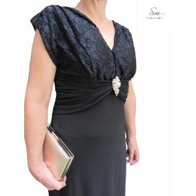 Vestido Longo Festa Senhoras Evangélico Elegante Chique