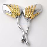 Espejo Diseño Mano Esqueleto. Cromado/dorado