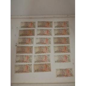 Cedulas Antigas -lote Com 18 Cedulas - De Cem Cruzados Novos