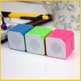 Mini Caixa De Som, Mp3, Pequena,entrada Cartão Na Cor Branca
