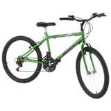 Bicicleta Aro 26 18 Marchas Aço Carbono Verde Pro Tork