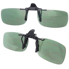 073862c8b0d3d Lentes Óculos Clip On Polarizado Proteção U V 400