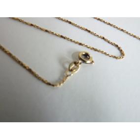 Promoção Corrente Cordão Colar Ouro 750, 18k, 46cm Maciço