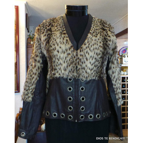 Chaqueta Cuero Mujer Con Tachas - Chaquetas Mujer en Mercado Libre Chile 4437a540ecec