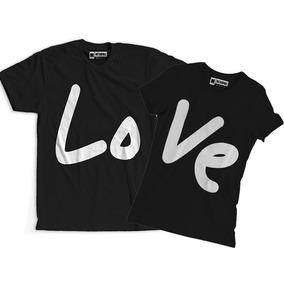 Conjunto Blusa Camiseta Namorados Casal Feliz Amor Love · 3 cores. R  60 811a44e784ee4
