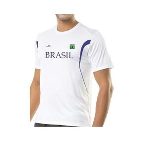 Camiseta Masculina Dry Line Brasil 125704 - Elite - Branco a 9f5bb8af09768
