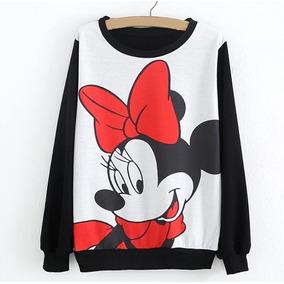 Moletom Gola Redonda 3d Full Roupa Minnie Mouse Unissex . 69d4318b110