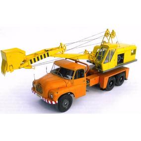 Replica Realista Caminhão Escavadeira Papercraft