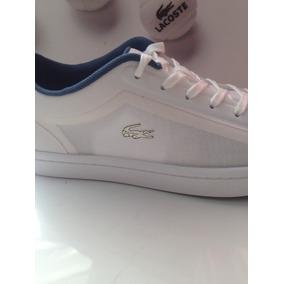 Tenis Lacoste Feminino Branco Couro nylon Original Garantia. R  450 94a4a9d994