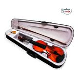 Violino Acústico 4/4 Madeira Arco Breu Estojo Cavalete Luxo