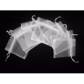 100 Saquinhos, Sacos Organza Brancos 7x11 Cm Lembrancinhas