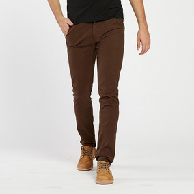 Pantalon Chino Vestir Pants Skinny Slim Fit Entubado Beraka