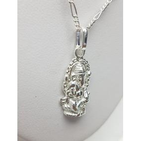 Dios Elefante Ganesha Plata Ley .925 Incluye Cadena