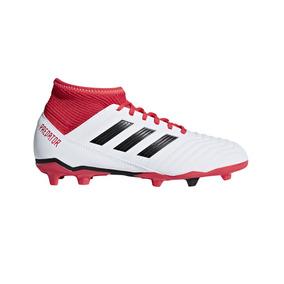 Botines Con Tapones adidas Predator 18.3 Fg J Niño Bl/rj