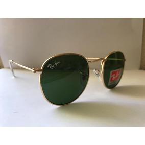368f901be3 Óculos Ray-ban Round Marrom 3447 Feminino Redondo Masculino