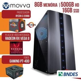 Computador Gamer Amd Ryzen 3 2200g 3.5ghz Mem.8gb Hd 500gb S