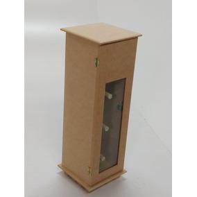 Porta Papel Higiênico C/ Vidro - Mdf Cru