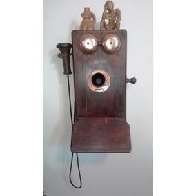 Telefone Antigo De Madeira Northen Electric Company