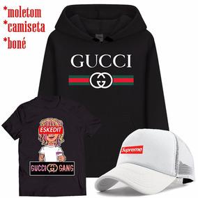 655f0fe4b3 Kit Camiseta + Boné + Moletom Gucci Gang Lil Pump Supreme