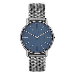 684c856fb7188 Relógio Masculino Titânio Slim Skagen 956xlttn Fundo Azul - Relógios ...