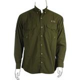 a407aefc43ea7 Camisa Pesca Poli Cardume Social Proteção Uv50+ Verde Musgo