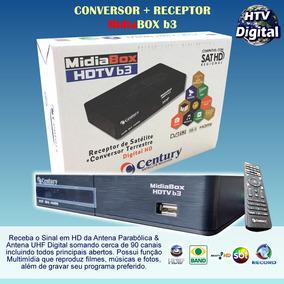 Receptor Digital E Conversor Digital Midiabox B3 Century