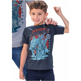 Playera Marvel Niño Avengers Azul 1405811