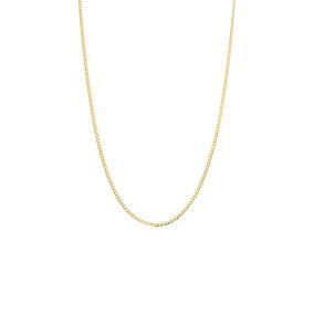 Cadena De Oro Amarillo Con Diamantado Platina-040gaxpde0140p