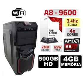 Pc Cpu Gamer Amd A8 9600 3.4ghz 4gb Hd 500gb Radeon R7 Wifi