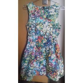 43fc13808aa23 Vestido Floral Zara - Calçados, Roupas e Bolsas no Mercado Livre Brasil