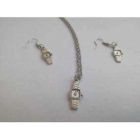 3 Pzs Collar Aretes Reloj Vintage Aleación Abuela Regalos