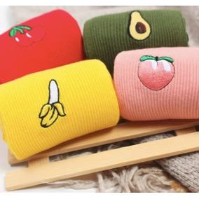 Calcetines Coreanos Con Diseño De Frutas Pijama